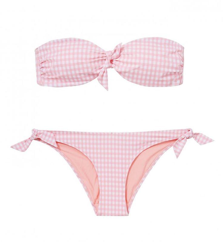 maillot de bain motif vichy rose - vintage - 65 maillots de bain 2015 qui donnent envie d'aller à la plage ou à la piscine - Cosmopolitan.fr
