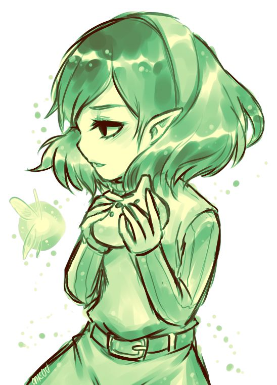 Ocarina of Time -- Saria by *onisuu on deviantART