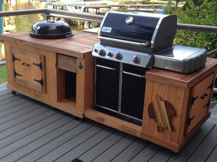 73 best images about weber on pinterest grill station for Outdoor cooking station ideas