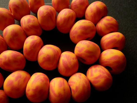 Set of 41 big red orange and yellow handmade by sillylittlesheep, $20.00