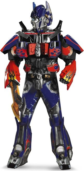 3D Optimus Prime Theatrical Transformers Edition - Have the most epic costume and make memories this Halloween with this officially licensed Transformers 3 Theatrical Edition Costume. Get battle ready and fight for good over evil in this realistic-looking replica costume.  This costume set is action packed with a sublimated spandex body suit with built in polyfoam pieces. #transformers #yyc #costume #superheroes