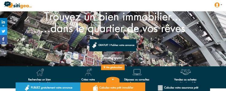 SITIGEO, le nouveau site immobilier entre particuliers, 100% bordelais, gratuit et géolocalisé