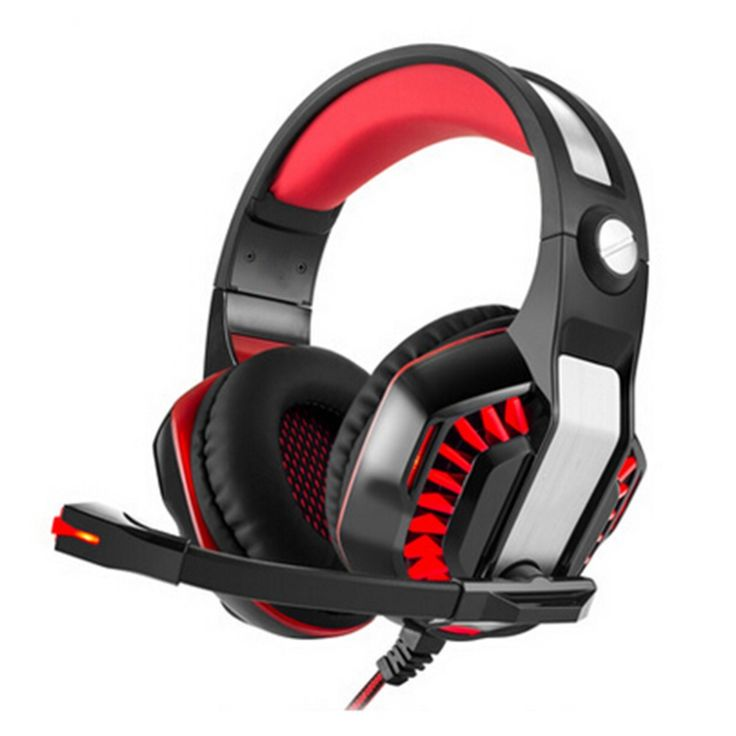 Gaming Headset Wired Earphone Gamer Headphone With Microphone LED Noise Reduction Headphones for Computer PC #Affiliate