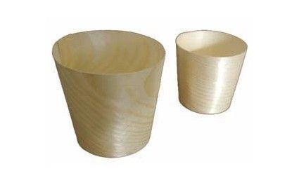 Mini verre bois 6 cm