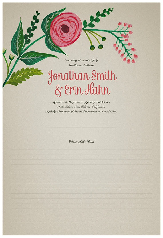 Best Project Quaker Wedding Certificate Images On