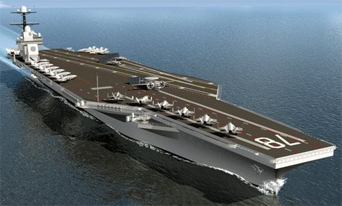 The US Navy's Gerald R Ford Class future generation aircraft carrier. The first two ships, CVN 78 and CVN 79, will be commissioned in 2015 and 2019. - Image - Naval Technology