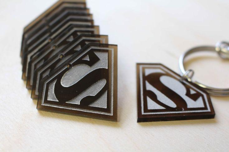 Personalised Custom Waterproof Logo SuperMan Keychain Keyrings Acrylic Gift  Laser Engrave by FeelMyCraft on Etsy