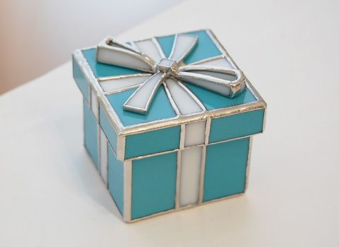 Tiffany box stained glass