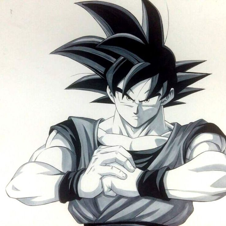 Goku Black...And white..xDD