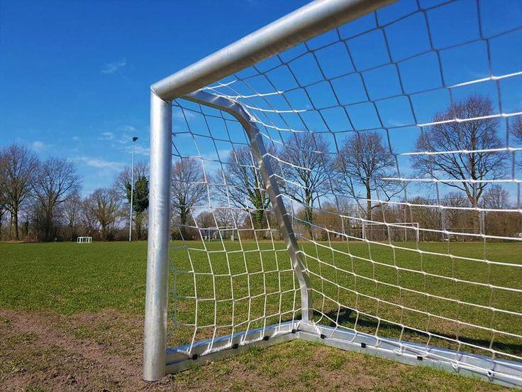 Mini pupillen voetbaldoelen. Door de netbevestigings-positie, eenvoudig stapelbaar.