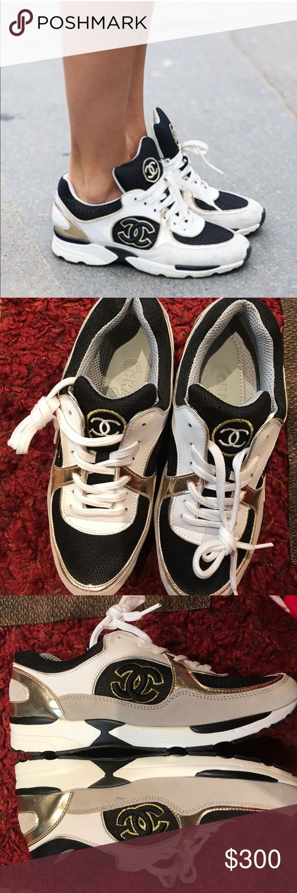 Chanel sneakers Brand new, never worn. True to size. Must have 💖 please be reasonable with the pricing. Thank you CHANEL Shoes Sneakers