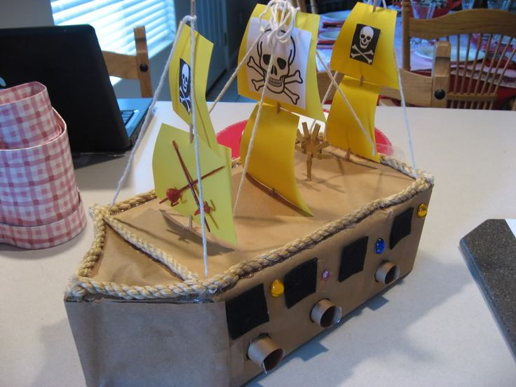 Pirate Ship Valentines Box