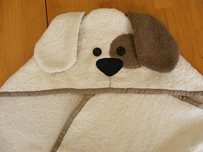 DIY Hooded Baby Animal Towel Tutorial - Dog and Frog