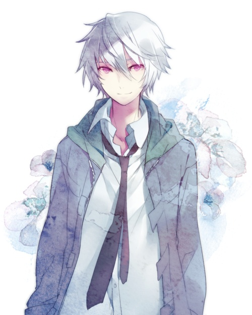 anime boys with white