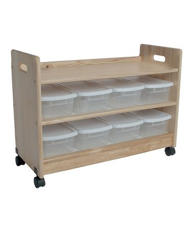 Take a look at this Unfinished Rolling Toy Organizer by Little Colorado on #zulily today!