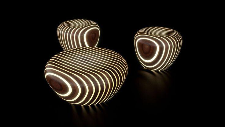 Bright Woods Collection illuminated stools