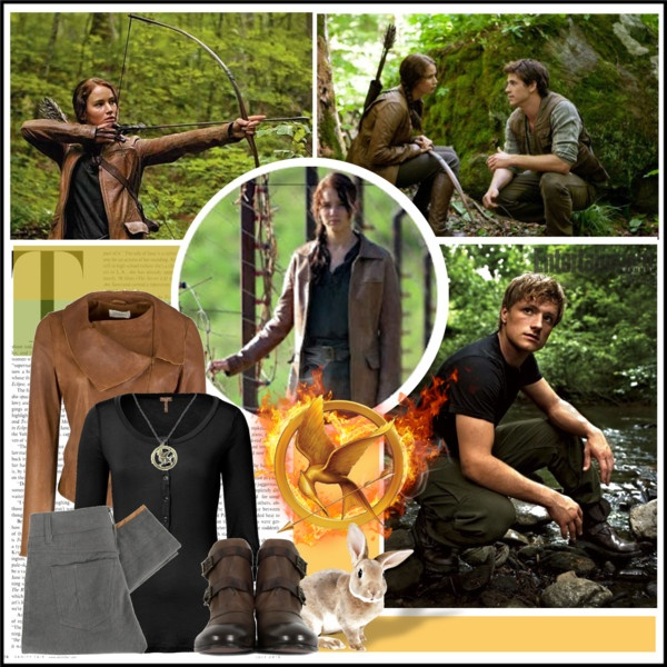 best katniss images the hunger games the hunger  katniss hunting the hunger games created by retrocat1 on polyvore