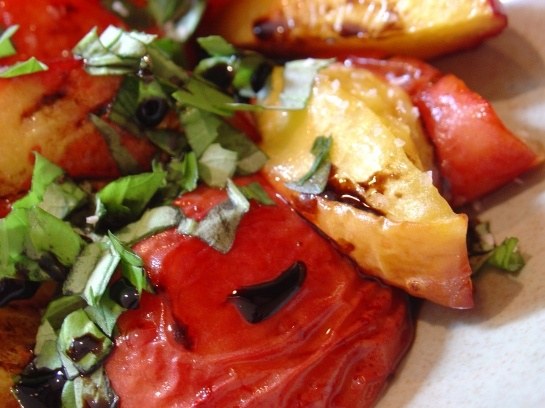basil balsamic grilled peaches | EAT THIS | Pinterest | Grilled ...