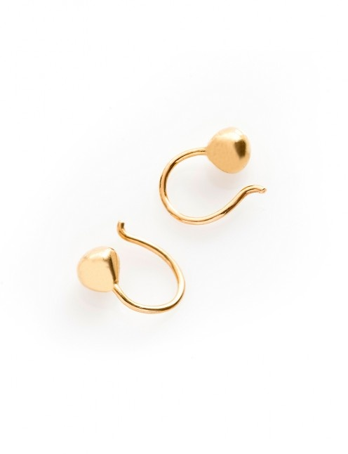 drop gold earings by helena rohner