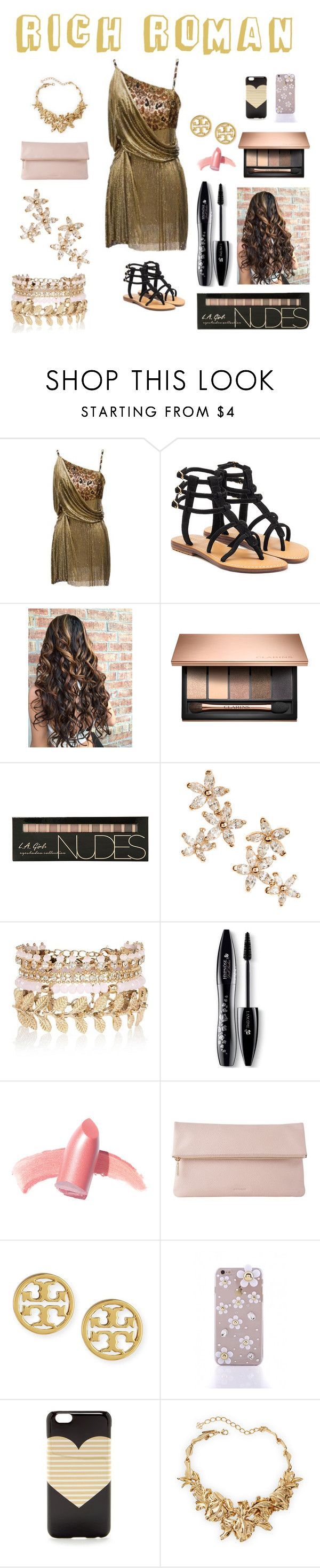 """Rich Roman"" by grumpy-cat-lover ❤ liked on Polyvore featuring Versace, Mystique, Bonheur, River Island, Lancôme, Elizabeth Arden, Whistles, Tory Burch, J.Crew and Oscar de la Renta"