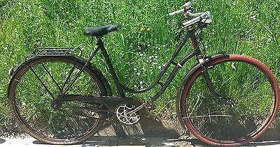 Vélo ancien 1920/30 Peugeot Cycles Tournier Lyon.Antique and Old bike Peugeot
