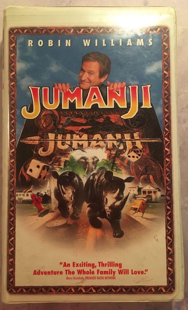 Jumanji VHS Robin Williams Kirsten Dunst Bonnie Hunt - Clamshell