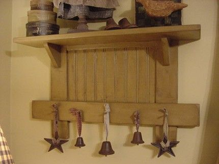 Primitive Home Decor Primitive Or Cottage Shelf Cut