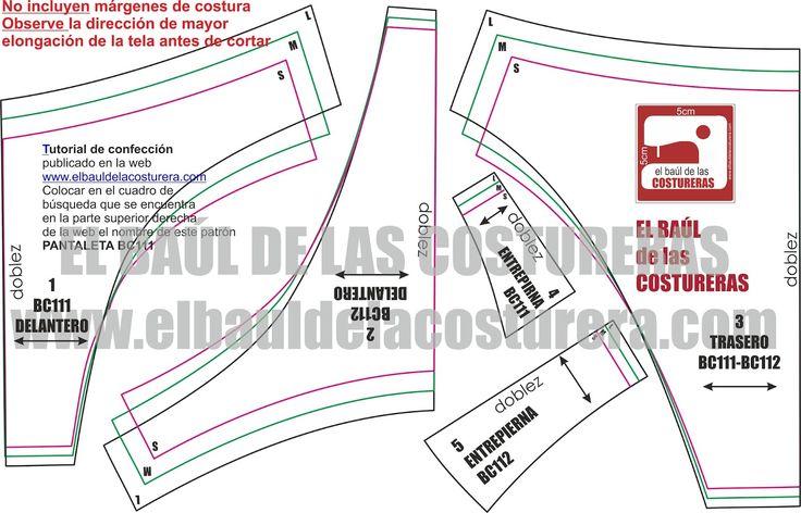 Patrón de costura gratis para pantaletas, bikinis talla S M L