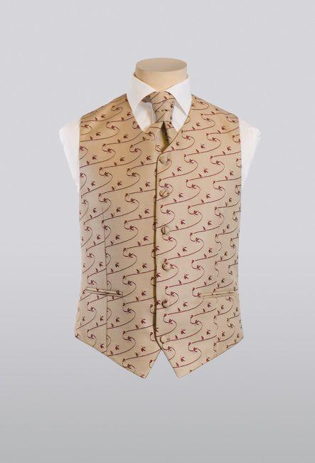 Мужской жилет классический с пластроном | Men's classic vest with plastron