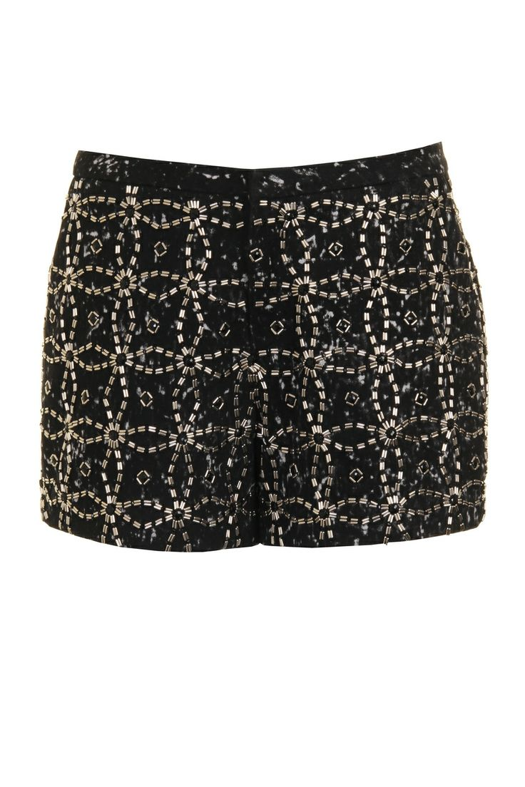 AnhHa Angel Mini Beaded Black Short at Coggles