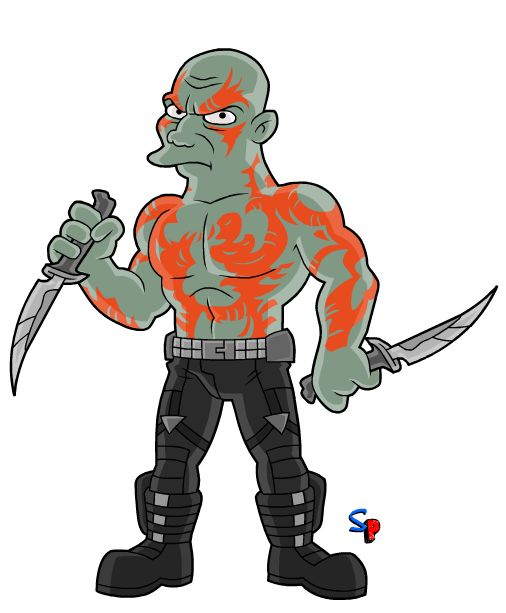 Springfield Punx: Guardians of the Galaxy; Drax the Destroyer