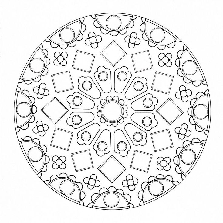 mandala coloring pages for adults and teenagers free high quality - Art Therapy Coloring Pages Mandala