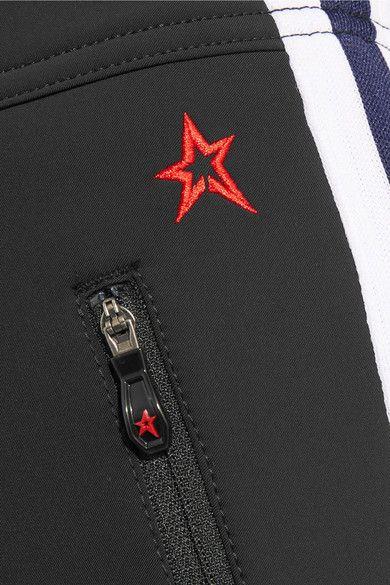 Perfect Moment - Racing Stripe-trimmed Ski Pants - Black -
