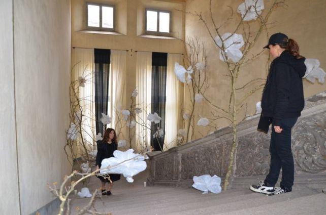 Le installazioni di Claudia Borgna in via Mazzini 15