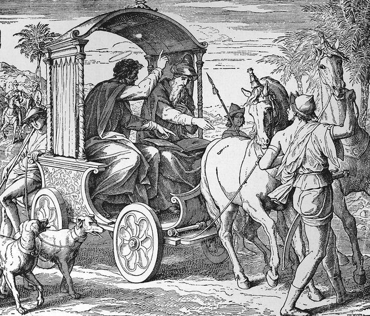 Bilder der Bibel – Bekehrung des Kammerherrn aus Mohrenland – Julius Schnorr …   – Bibelsprüche