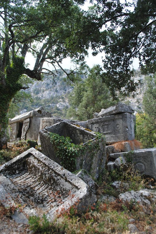 """Once described as the """"Eagle's Nest,"""" the ruined ancient city of Termessos rests on a remote mountaintop near the southern coast of Turkey."""