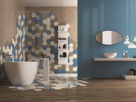 Une salle de bains contrastée