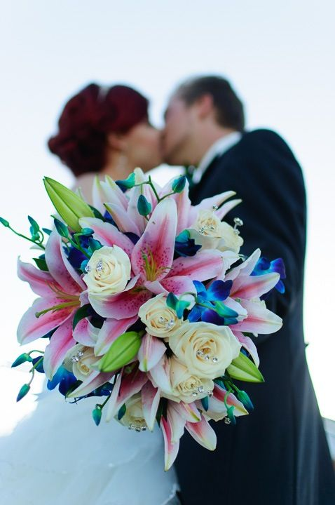 love the blue flowers... Bouquet. Guarda altre immagini di bouquet sposa: http://www.matrimonio.it/collezioni/bouquet/3__cat