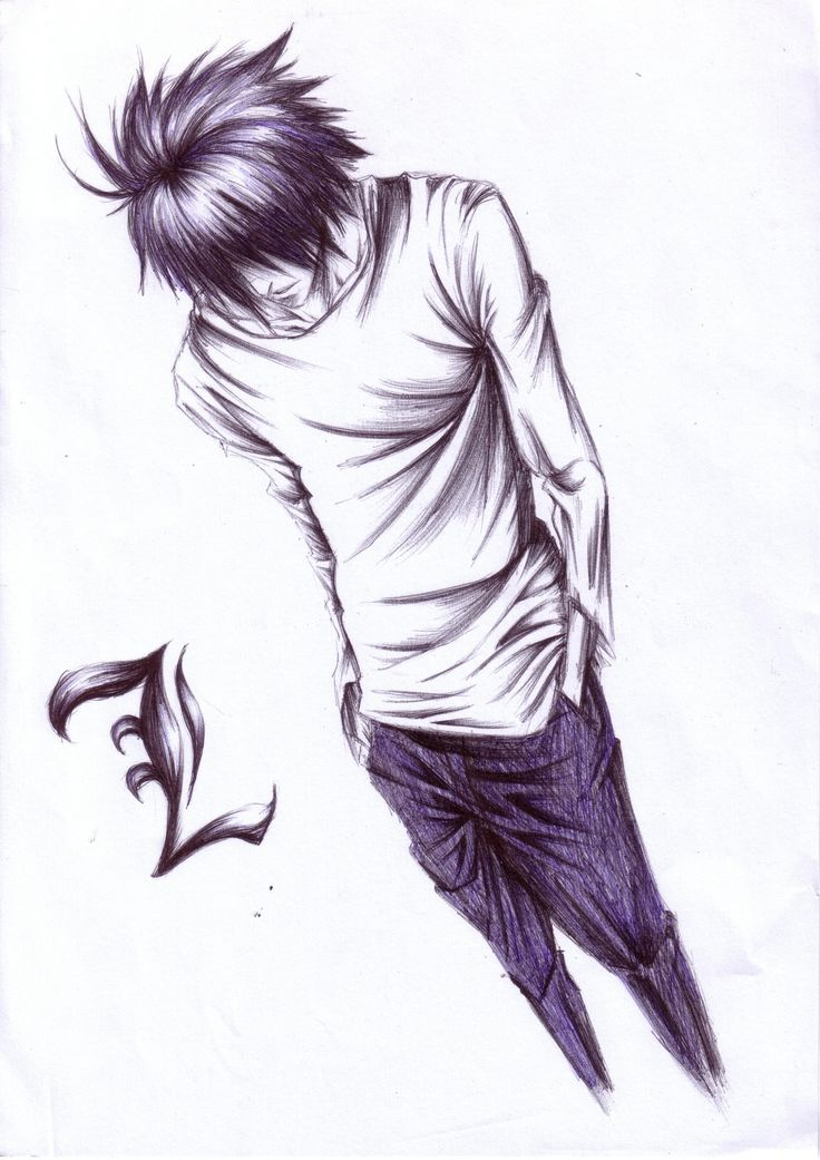 Tags death note l lawliet sketch artist request - Manga death note ...