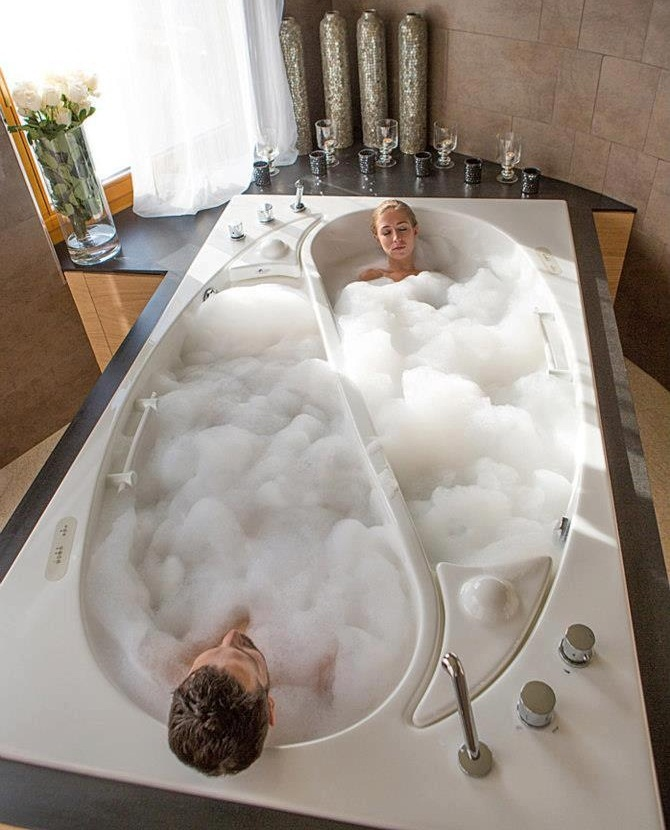 His & hers baths