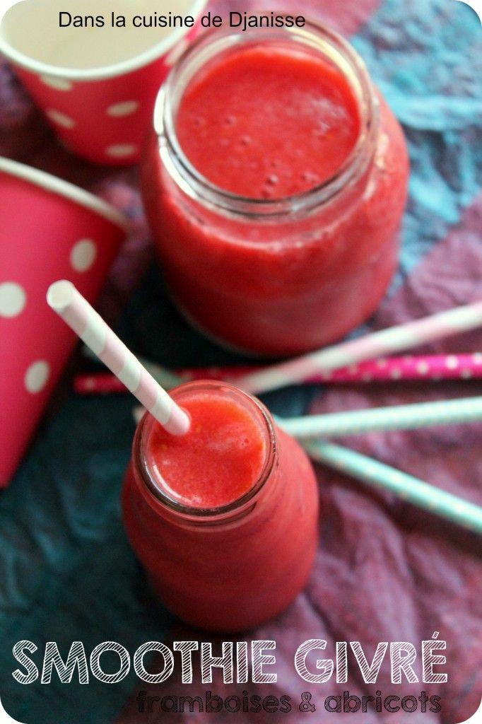 Apricot & rasperries frozen smoothie