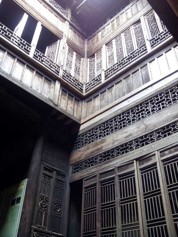 ancient house, chinese architecture, wood house