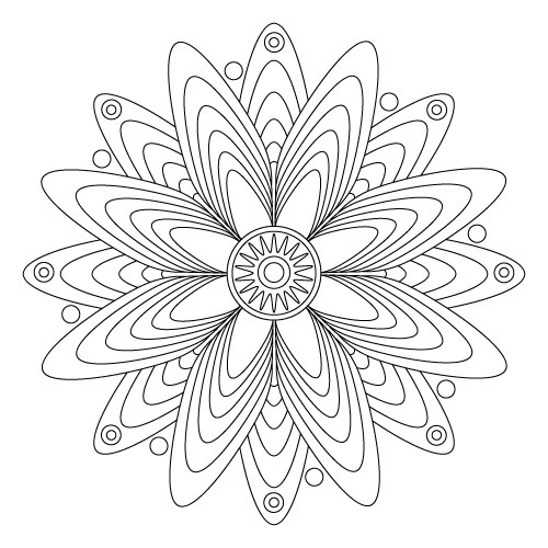 printable mandala coloring pages it looks like an atom electrons spinning lol