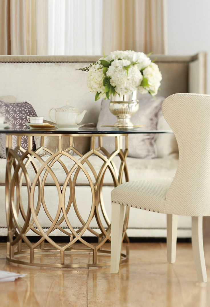 Wing chair bernhardt - Bernhardt Salon Table And Upholstered Wing Dining Chair Center Table Living Room