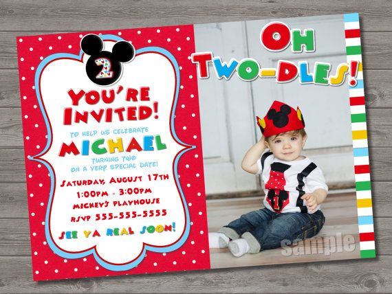 Mickey Mouse 2Nd Birthday Invitations was very inspiring ideas you may choose for invitation ideas