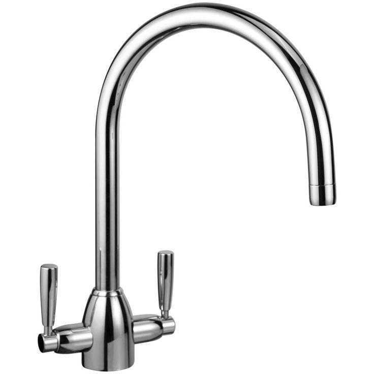 Astini Eigor Chrome Twin Lever Kitchen Sink Mixer Tap HK514