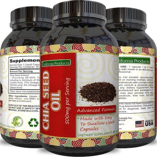 2. Premium Chia Seed Extract Pills for Men and Women - Essential Vitamins Minerals Proteins Amino Acids Fiber Zinc - Best Supplement for Weight Loss Suppress Appetite.