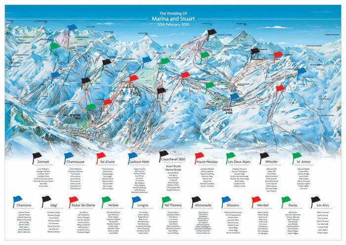 A piste map table plan!!!