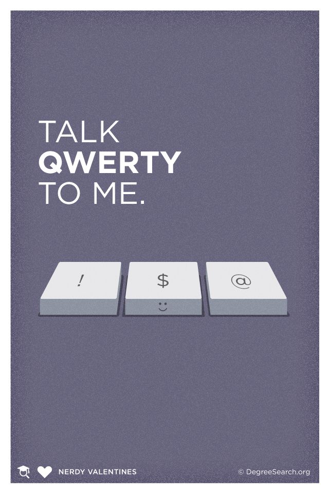 Talk QWERTY to me! #Valentines