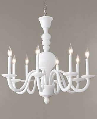 milk glass chandelier